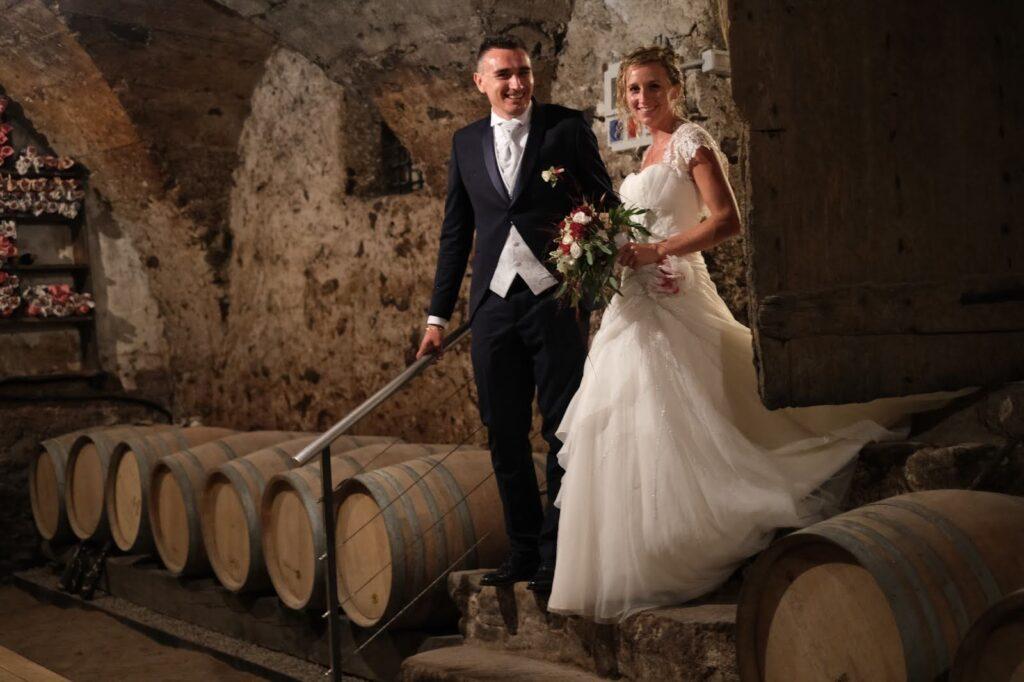 sposi a Palazzo a Prato in Cantina Barone a Prato